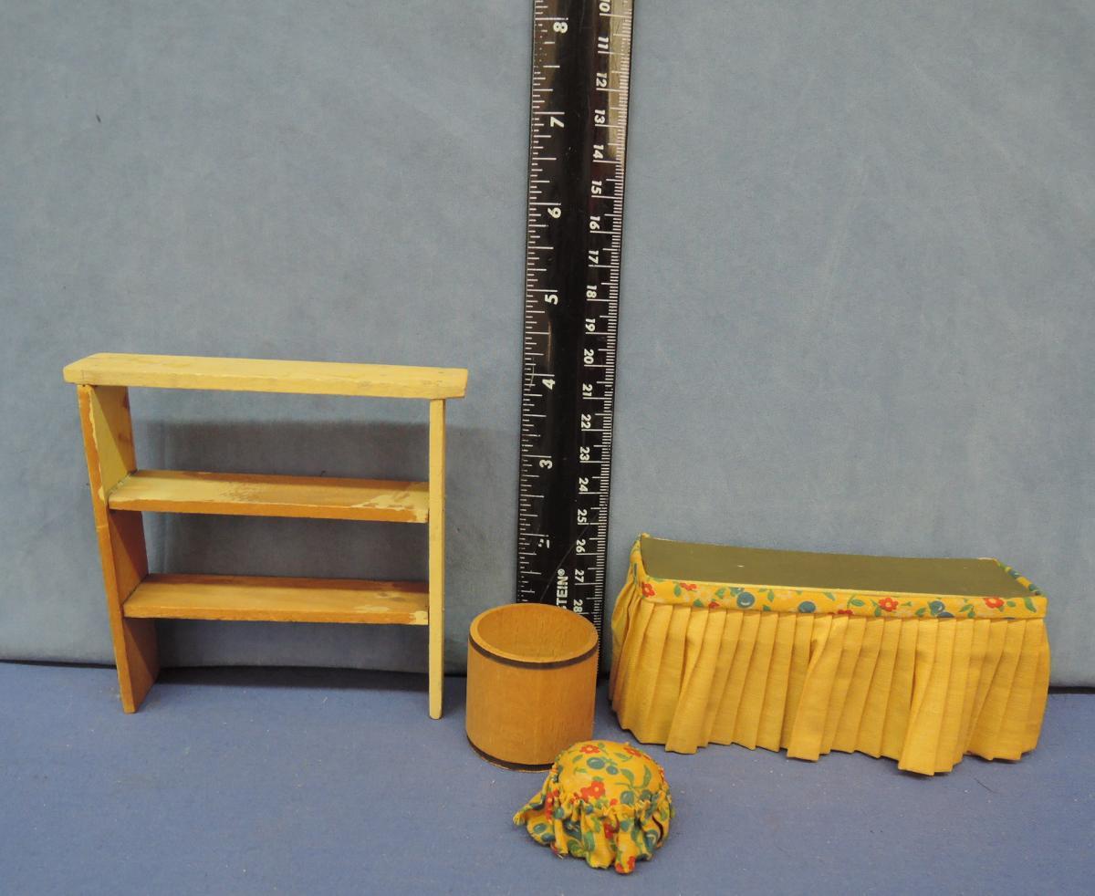 Wooden Book Case Dollhouse Furniture Miniatures Nice Twice Dollshop
