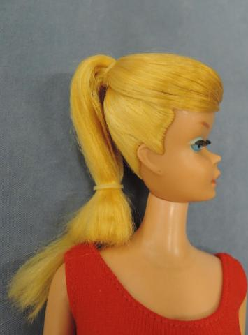 Vb081 Vintage Swirl Ponytail Barbie Blond 1959 1966 Dolls